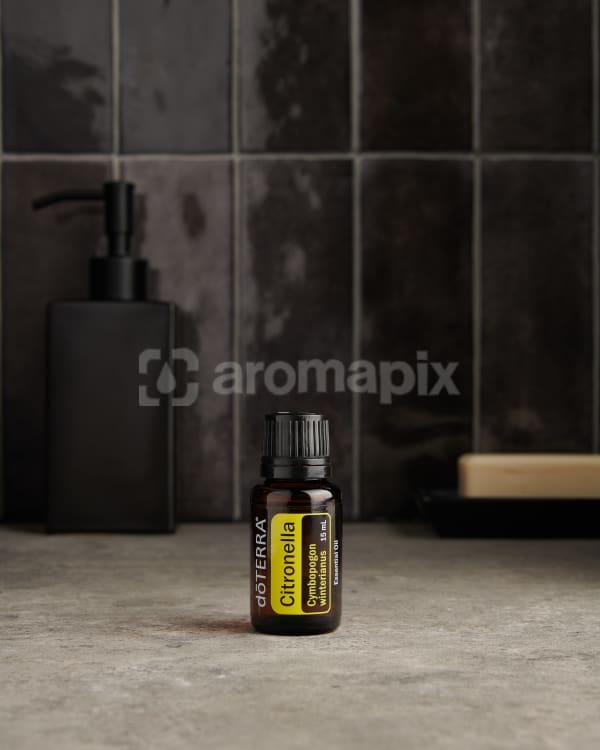 doTERRA Citronella on a bathroom benchtop.