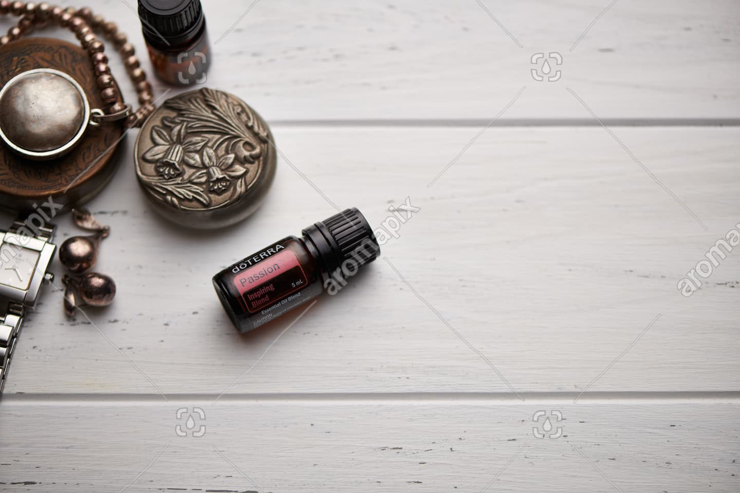doTERRA Passion on rustic background
