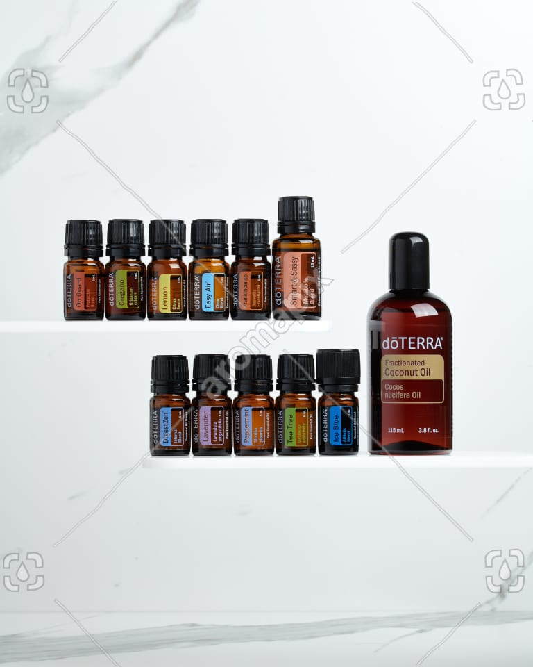 doTERRA Family Essentials Starter Pack with Smart and Sassy on white