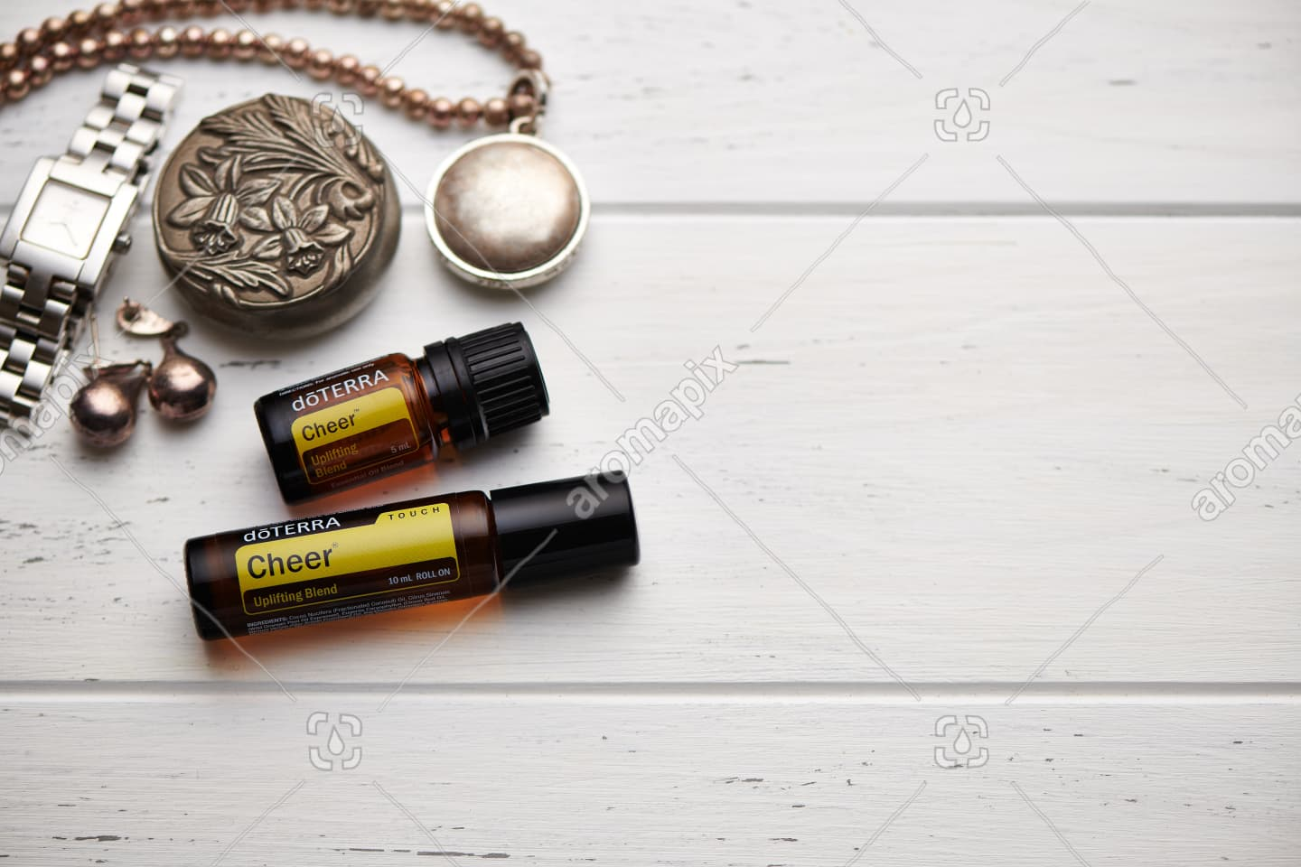doTERRA Cheer and Cheer Touch on rustic background