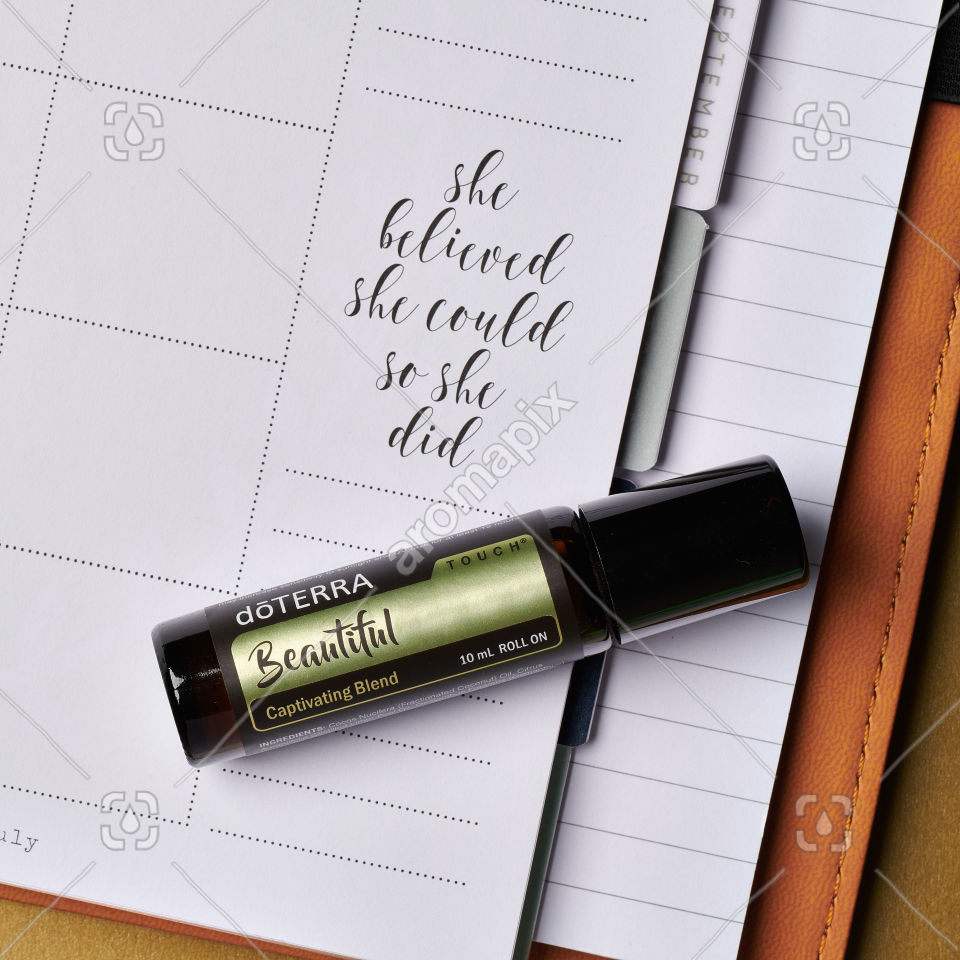 doTERRA Beautiful Touch on a journal