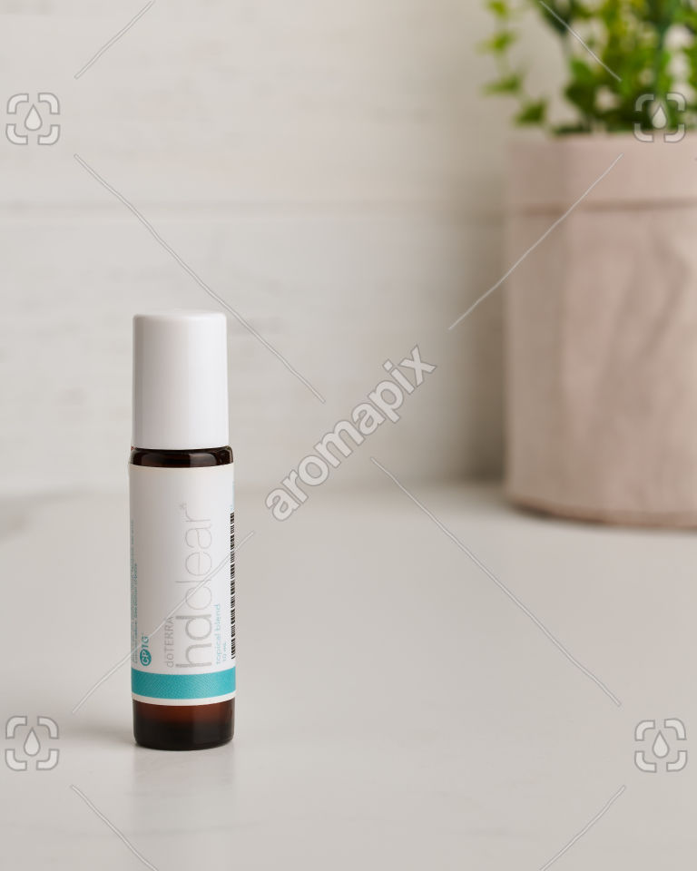 doTERRA HD Clear essential oil blend on white