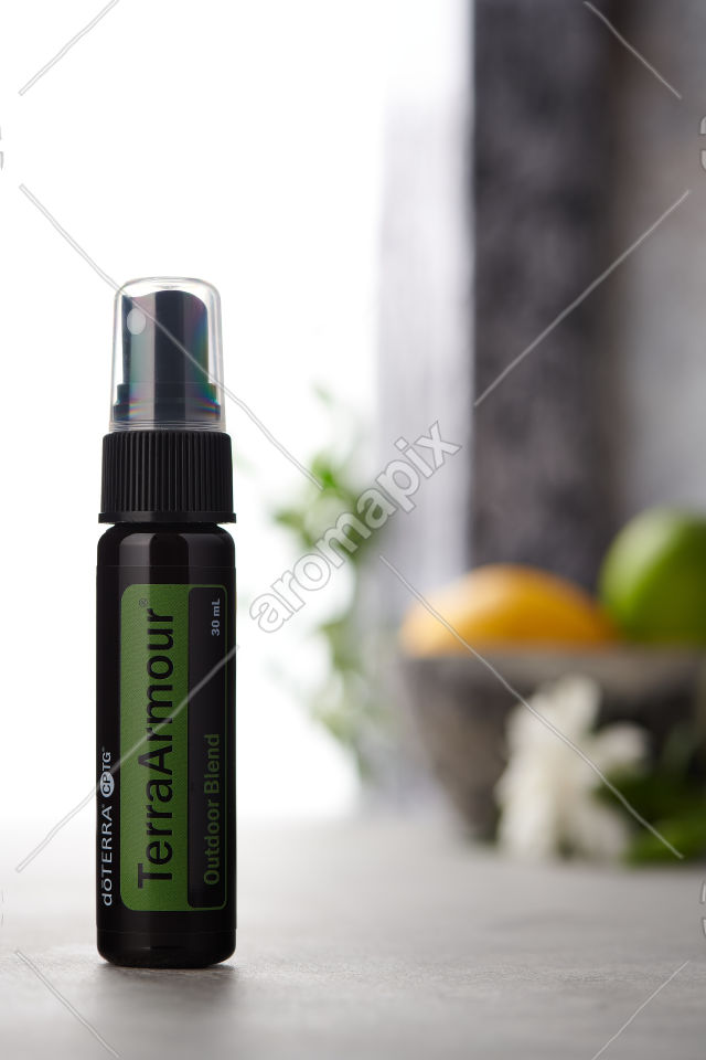 doTERRA TerraArmour Spray on a bench