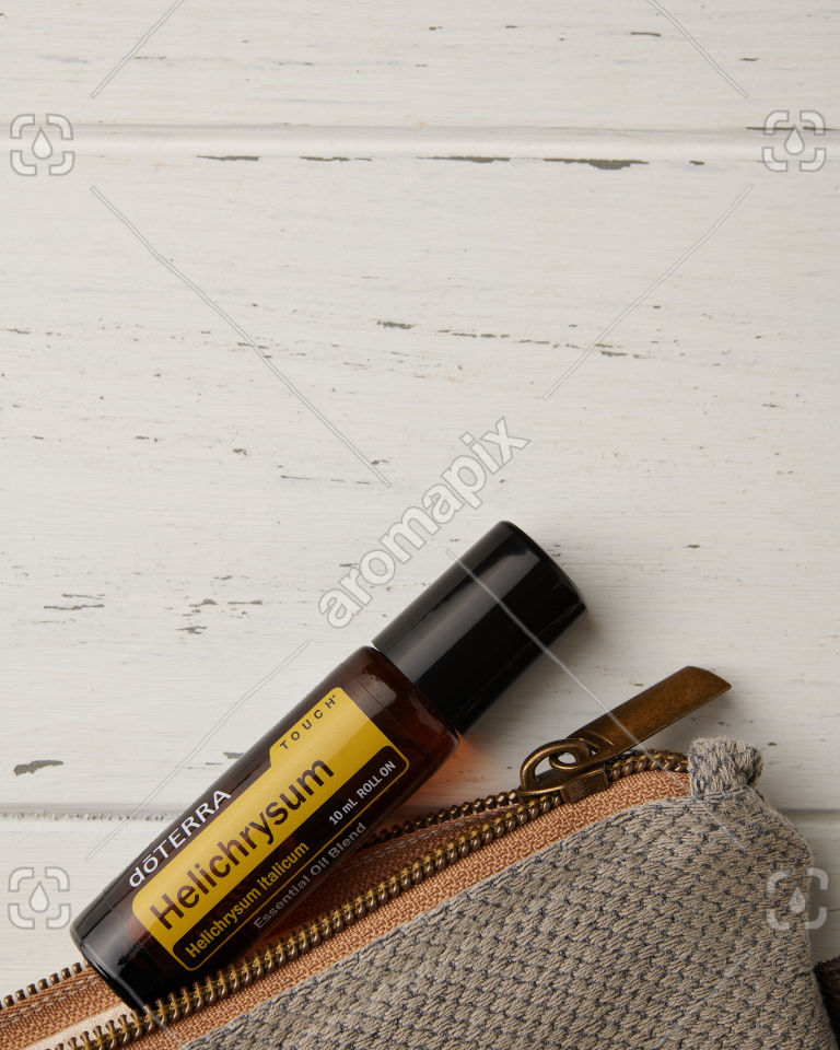 doTERRA Celery Seed and essential oil bag on white