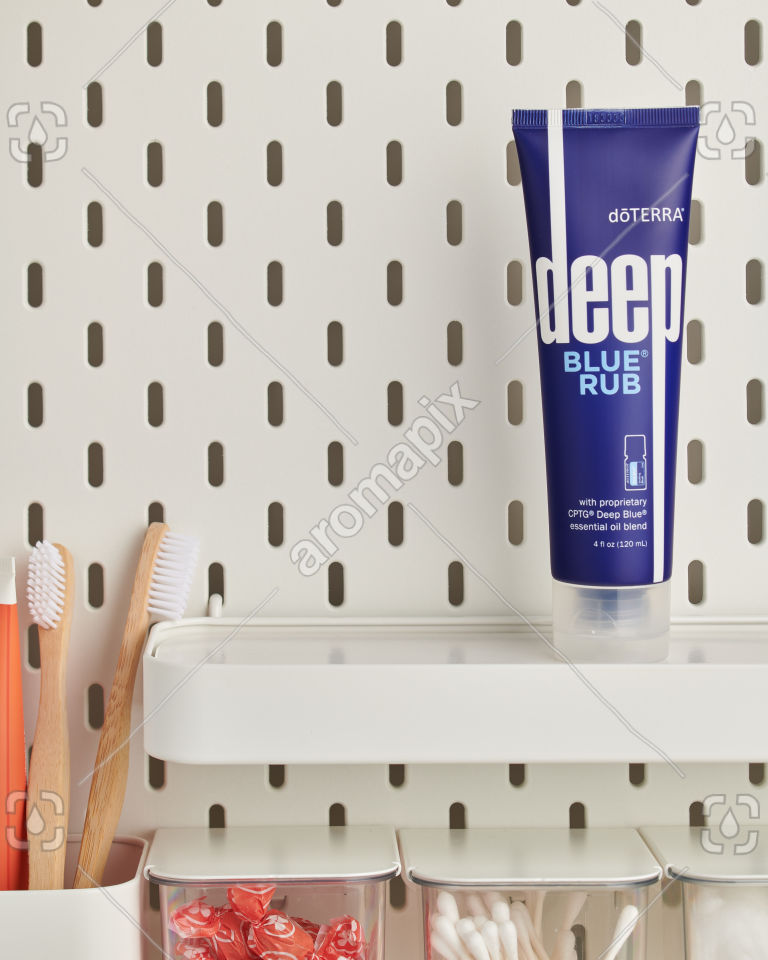 doTERRA Deep Blue Rub in bathroom