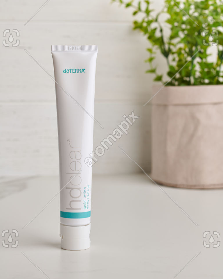 doTERRA HD Clear Facial Lotion on white
