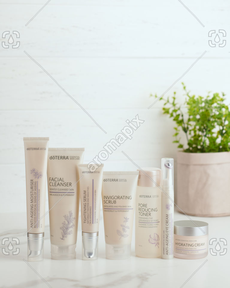 doTERRA Essential Skin Care products on white