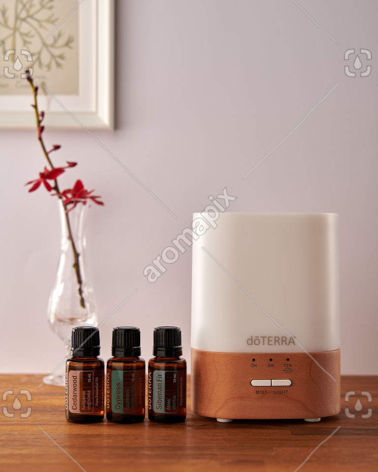 doTERRA Lumo diffuser with Cedarwood, Cypress and Siberian Fir