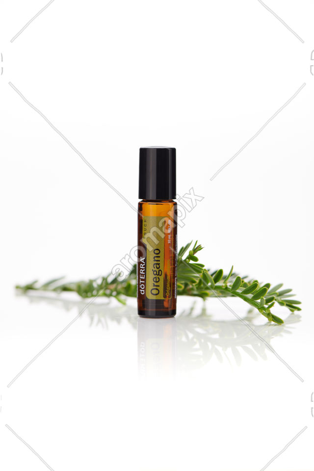 doTERRA Oregano Touch on white