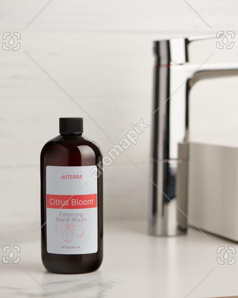 doTERRA Citrus Bloom Foaming Hand Wash on bathroom vanity