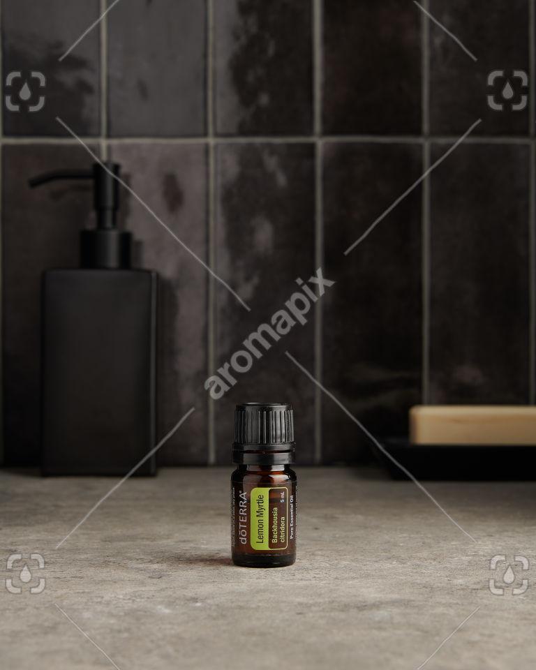 doTERRA Lemon Myrtle in a bathroom