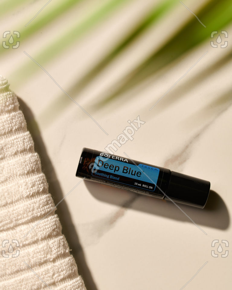 doTERRA Deep Blue Touch in sunlight