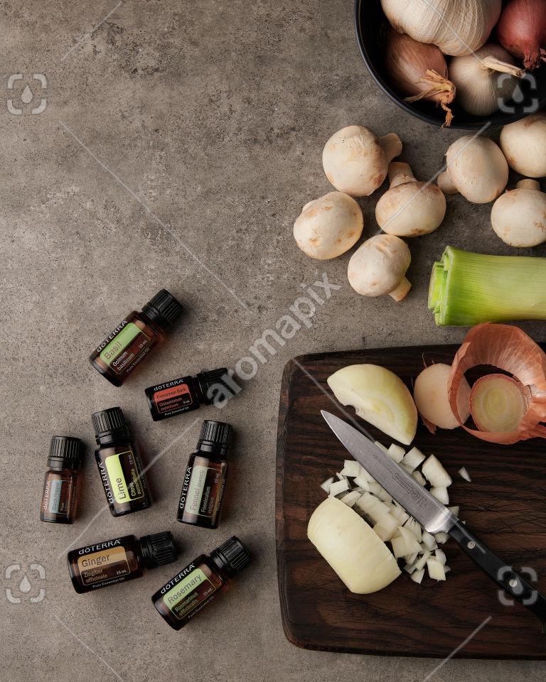 doTERRA Gourmet Cooking Wellness Box on a kitchen bench