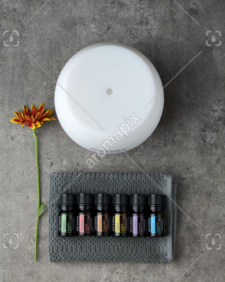 doTERRA Emotional Aromatherapy Starter Pack on gray