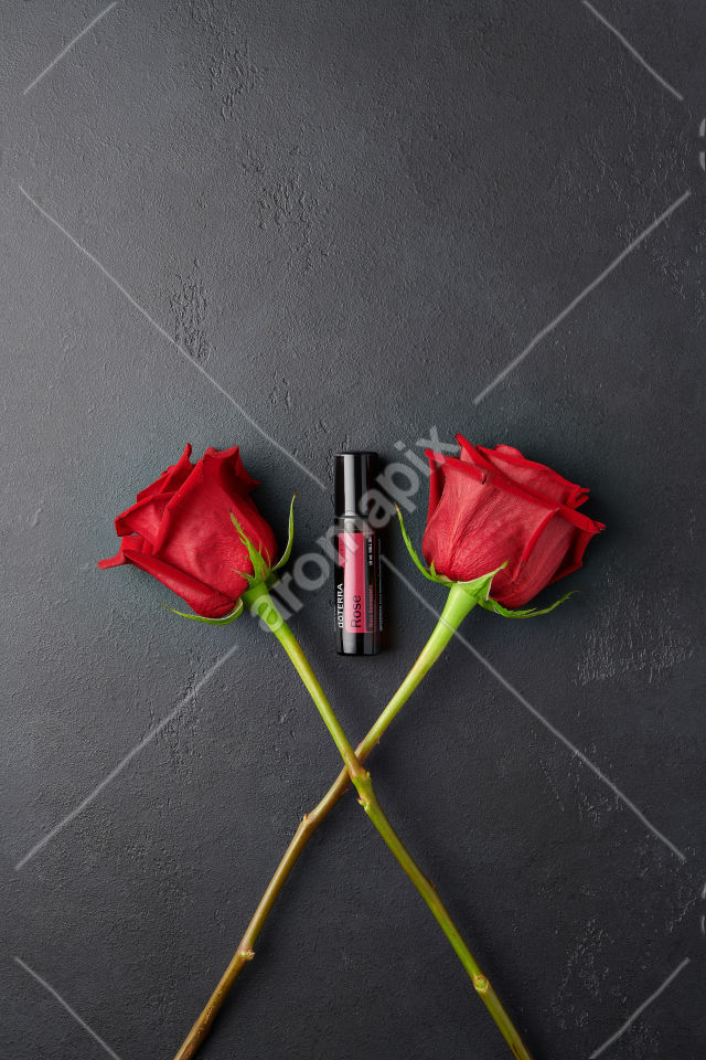 doTERRA Rose with roses on black