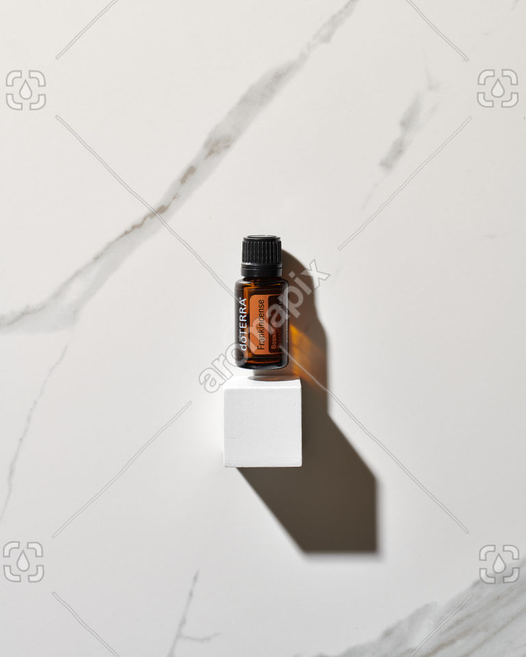 doTERRA Frankincense on marble