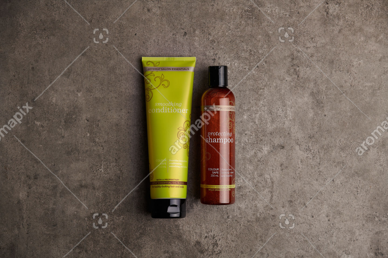 doTERRA Salon Essentials Shampoo and Conditioner on bathroom bench