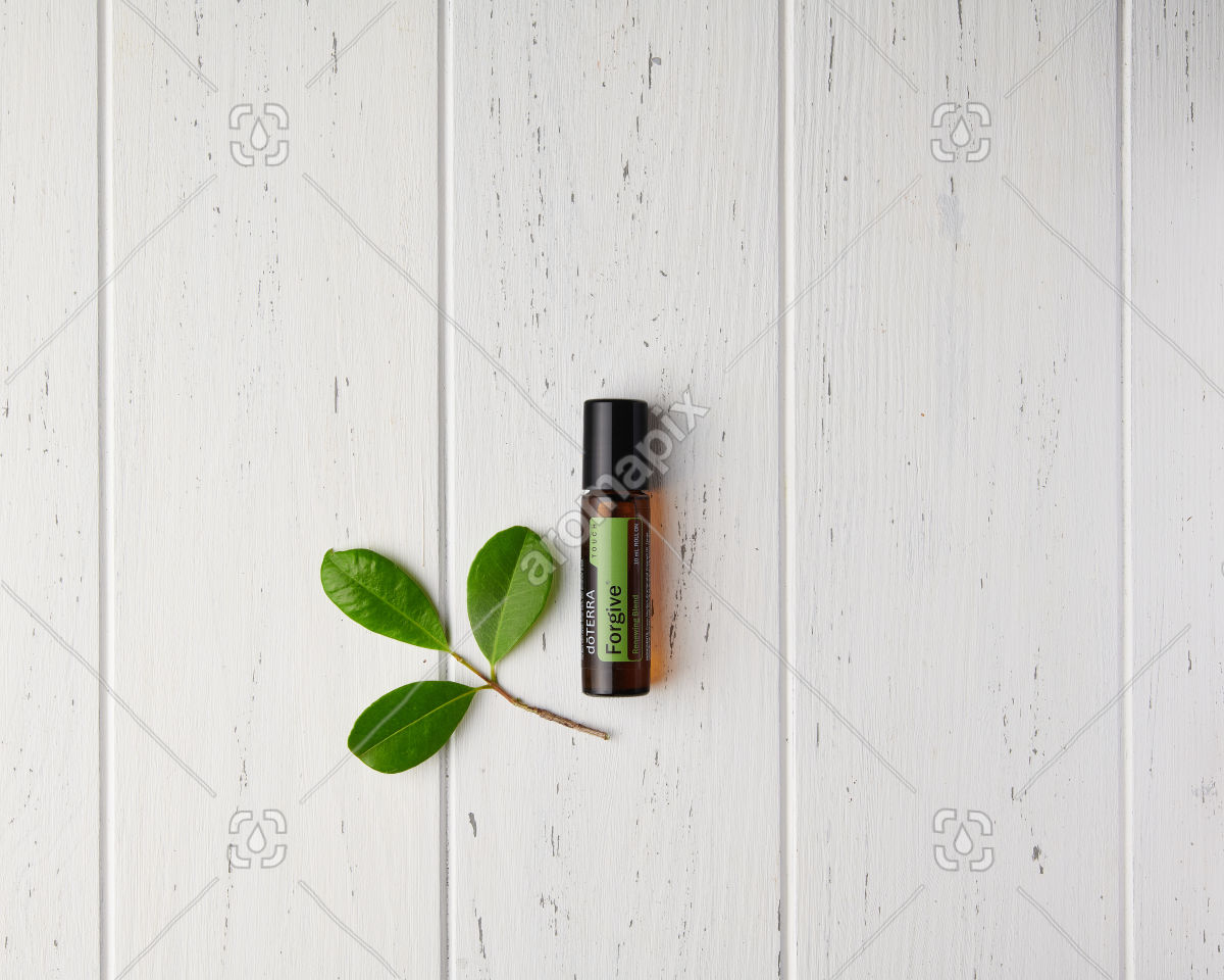 doTERRA Forgive Touch with leaves white