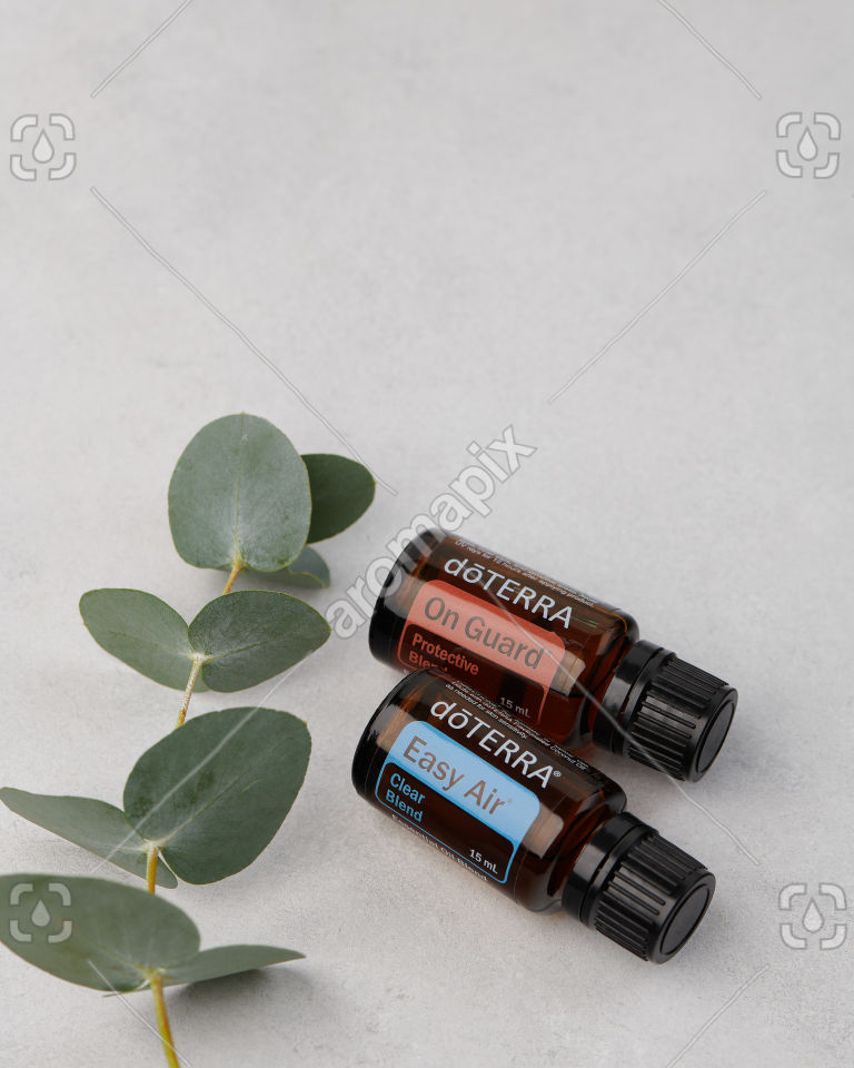 doTERRA On Guard and  Easy Air on grey