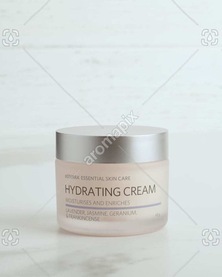 Close up doTERRA Essential Skin Care Hydrating Cream on white