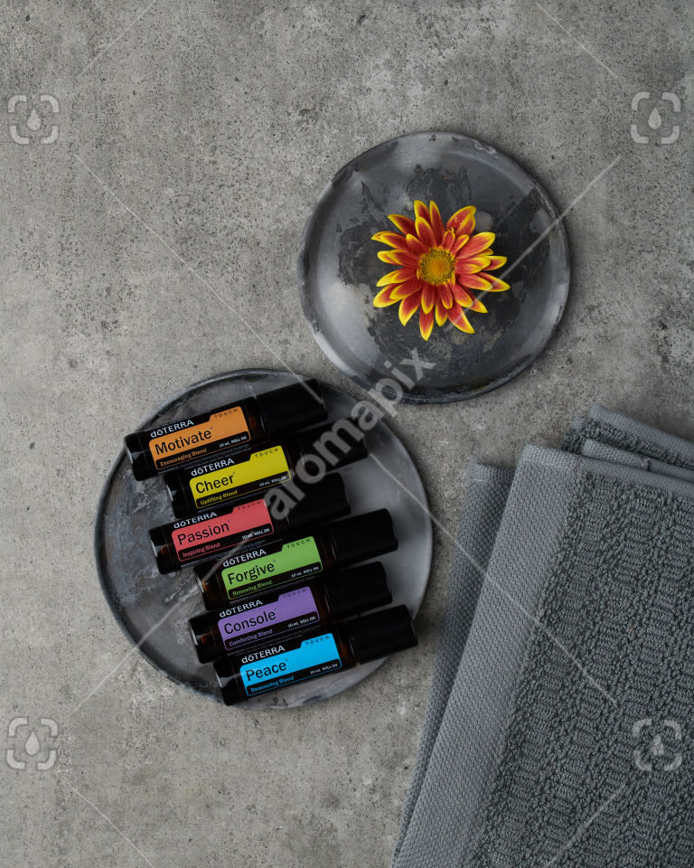 doTERRA Emotional Aromatherapy Touch Kit on gray