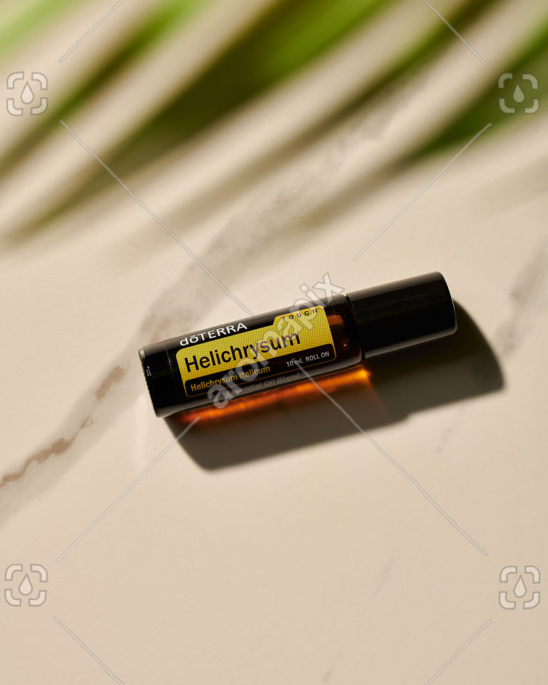 doTERRA Helichrysum Touch in sunlight