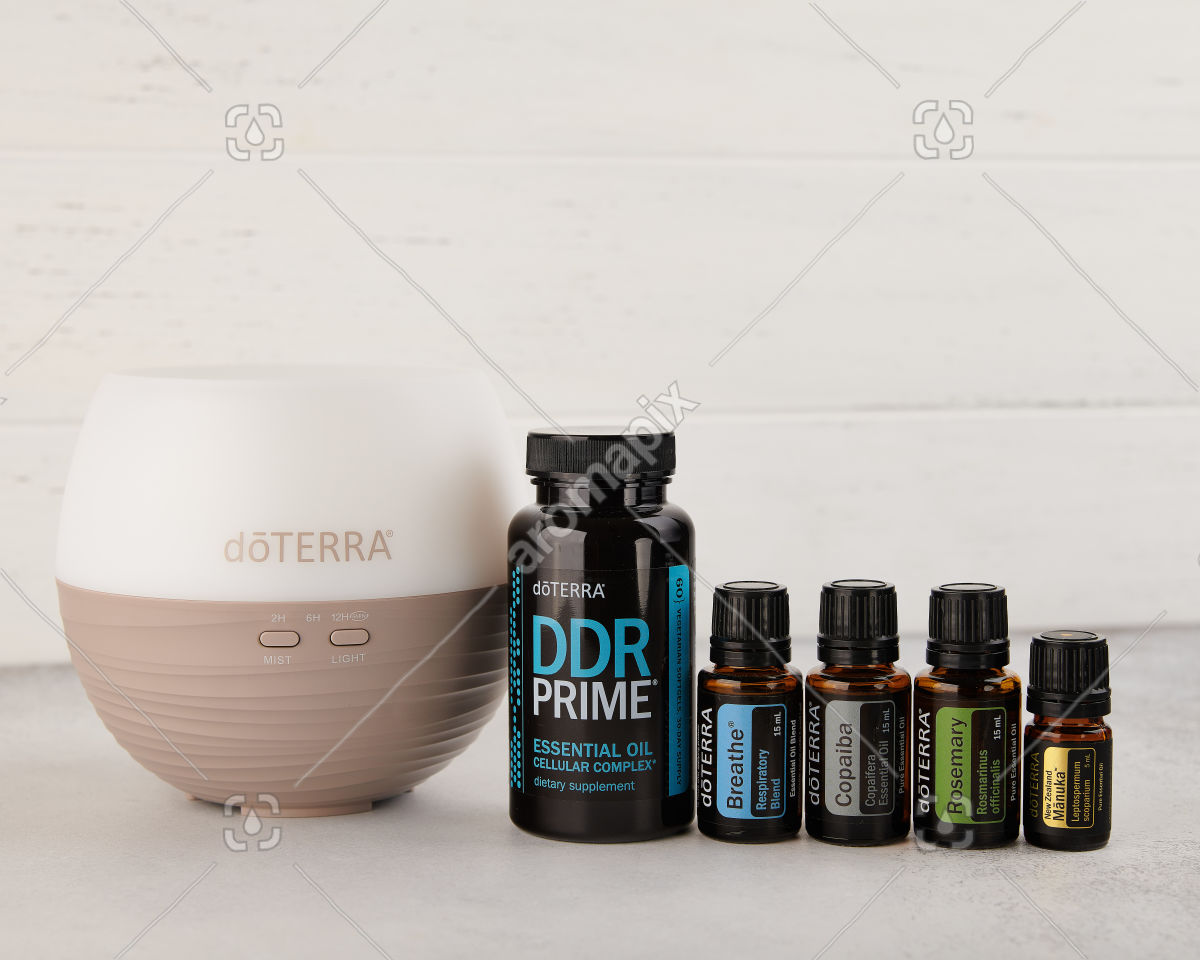 doTERRA US Winter Protection Kit on white