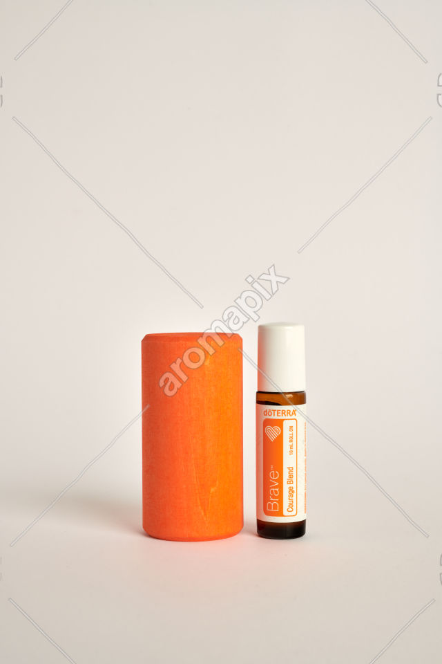doTERRA Kids Oil Collection Brave with a wood block