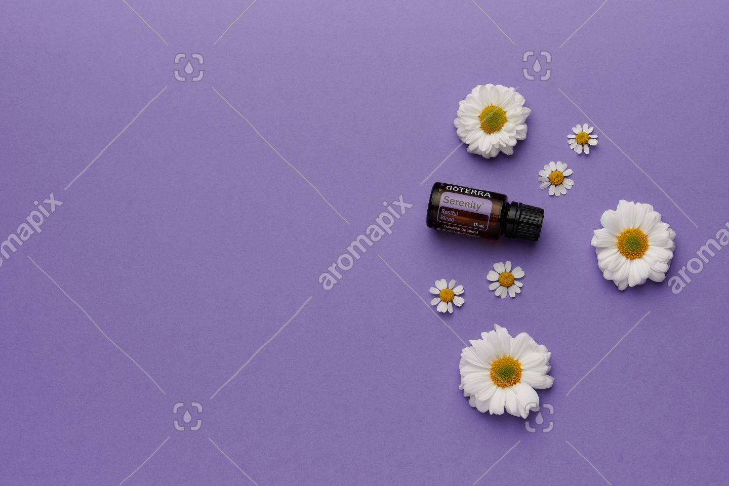 doTERRA Serenity with flowers on purple