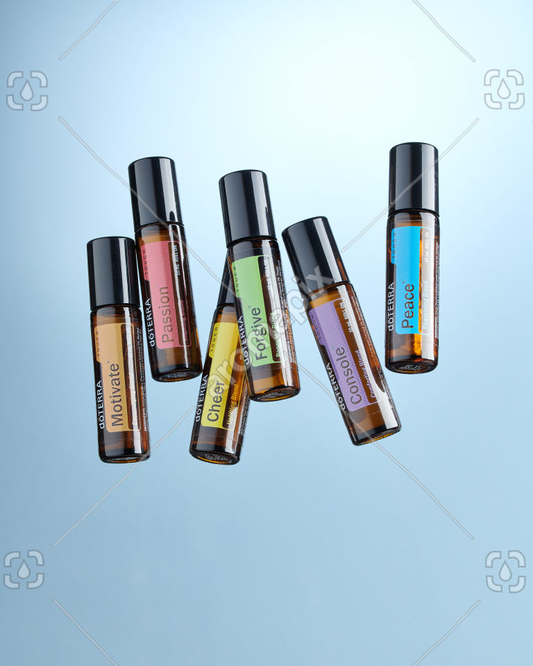 doTERRA Emotional Aromatherapy Touch Kit on blue
