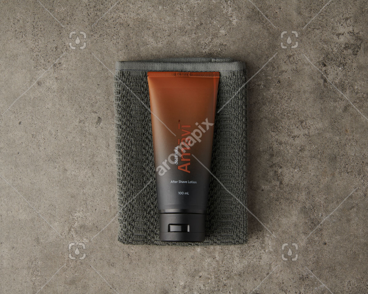 doTERRA Amavi After Shave Lotion on gray