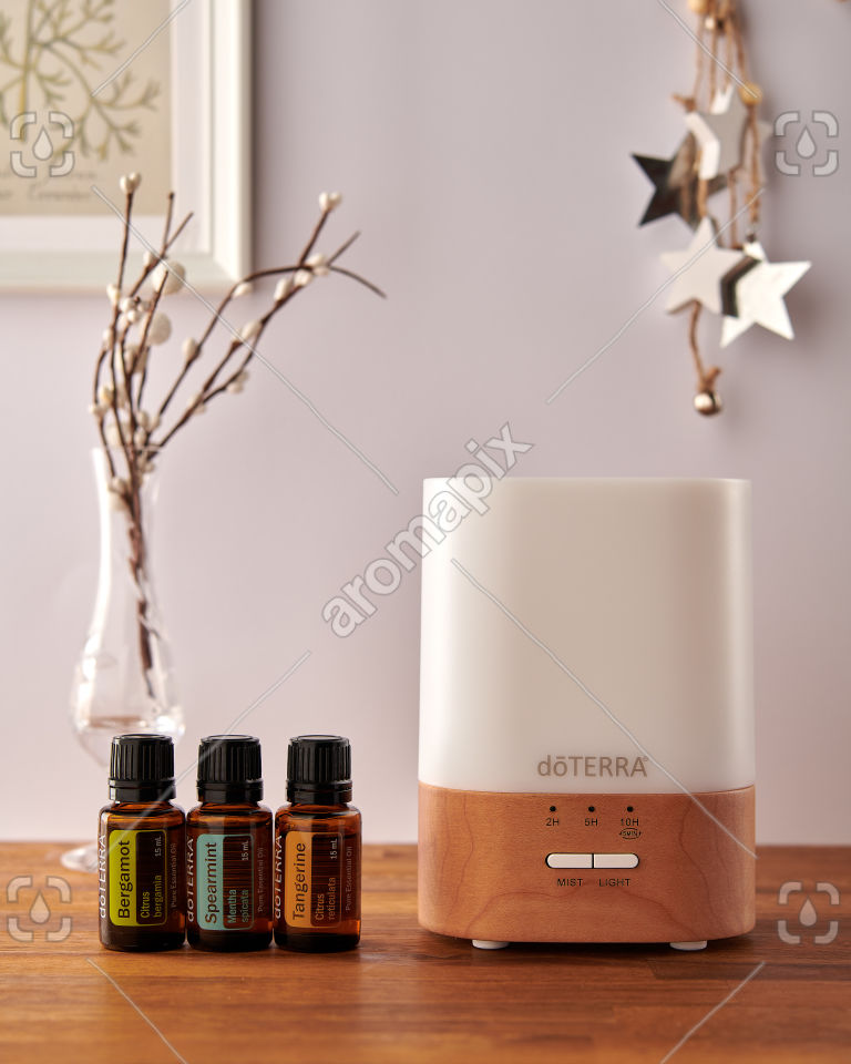 doTERRA Lumo diffuser with Bergamot, Spearmint and Tangerine