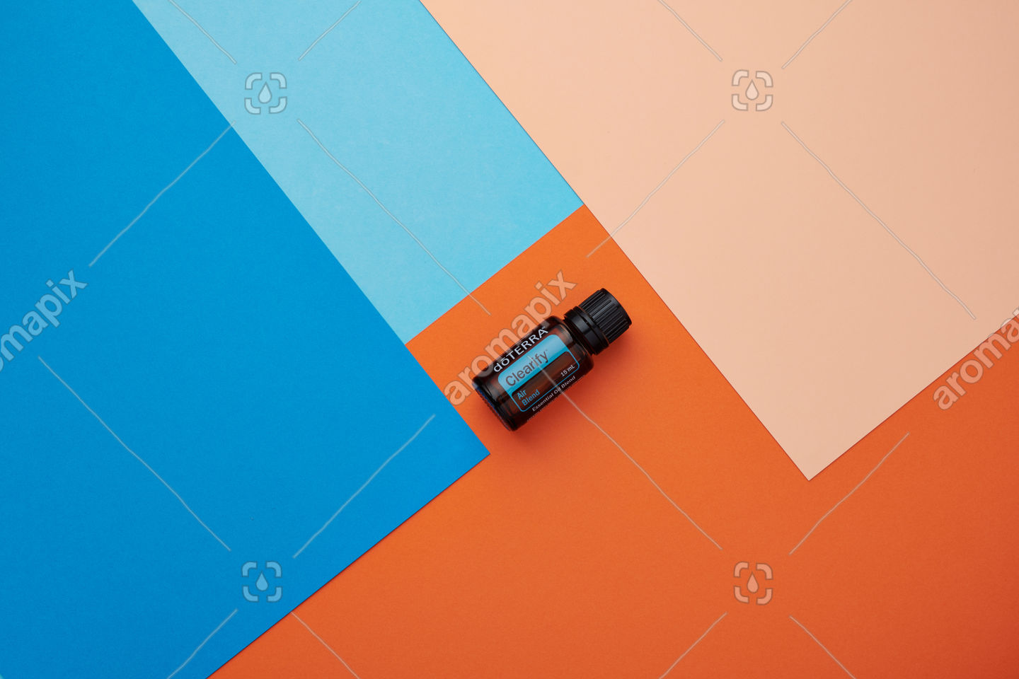 doTERRA Clearify on a blue and orange background