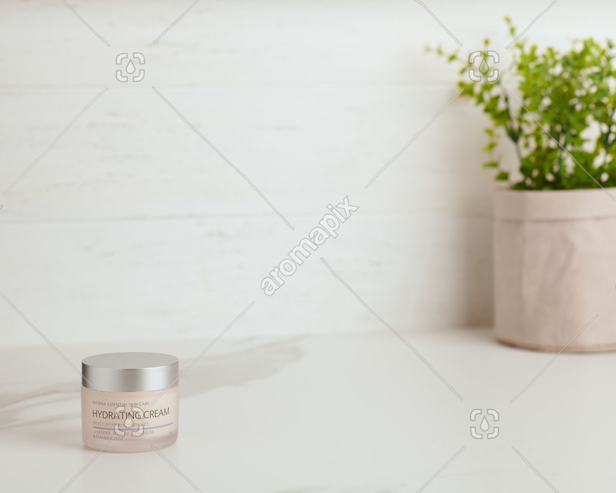 doTERRA Essential Skin Care Hydrating Cream on white bench