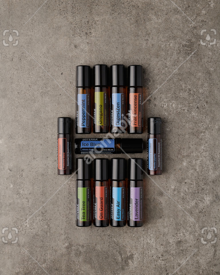 doTERRA Touch Kit on gray