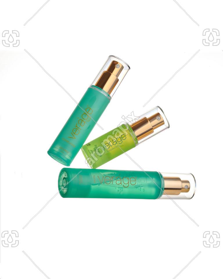 doTERRA Verage Moisturiser, Verage Salubelle Hydrating Serum and Verage Toner on white