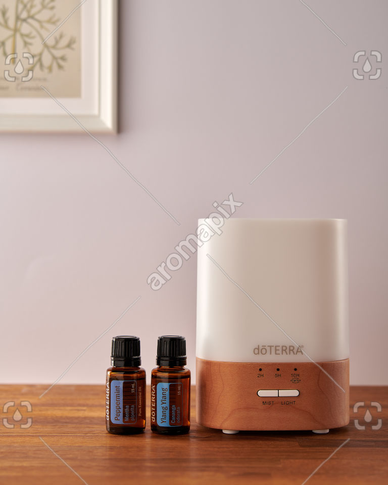 doTERRA Lumo diffuser with Peppermint and Ylang Ylang