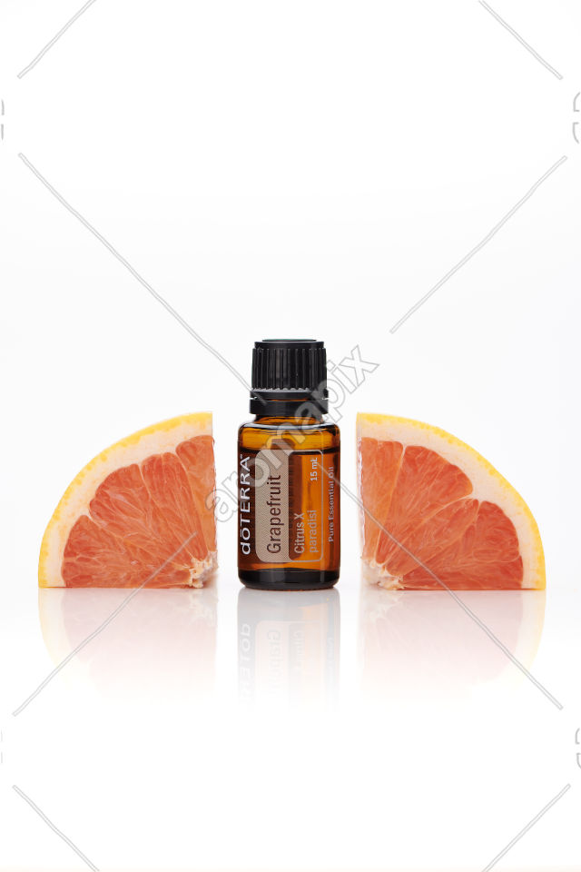 doTERRA Grapefruit with grapefruit on white