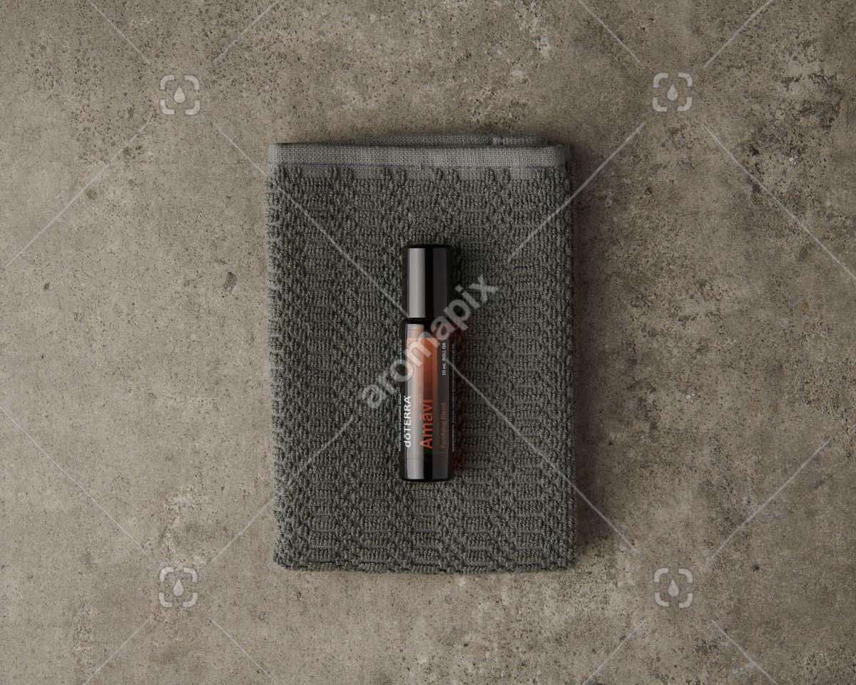 doTERRA Amavi Touch on gray
