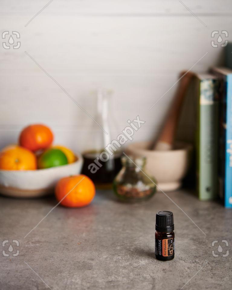 doTERRA Red Mandarin on a kitchen bench