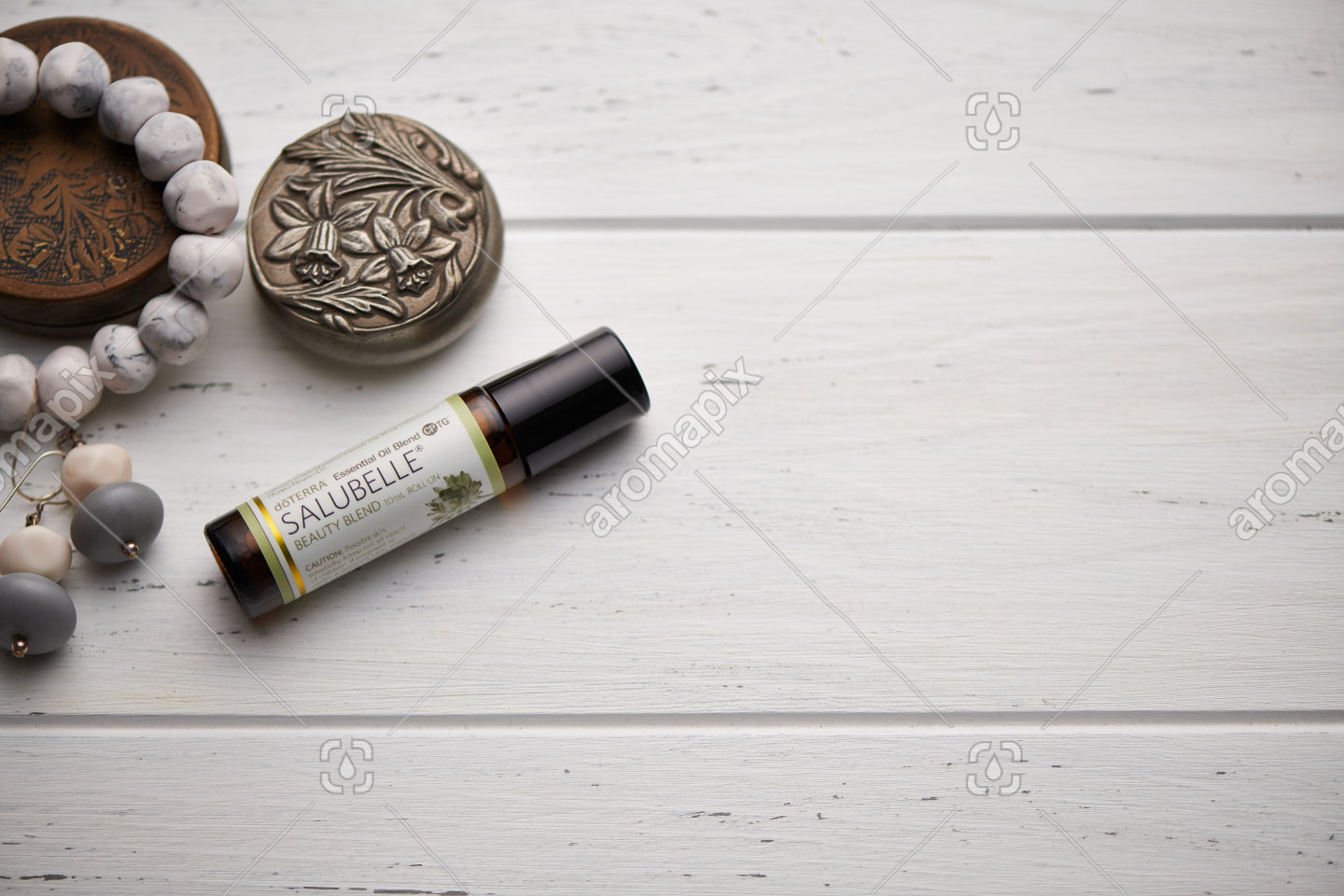doTERRA Salubelle on rustic background