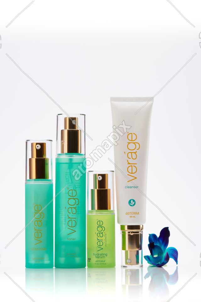 doTERRA Verage Skin Care Collection on white
