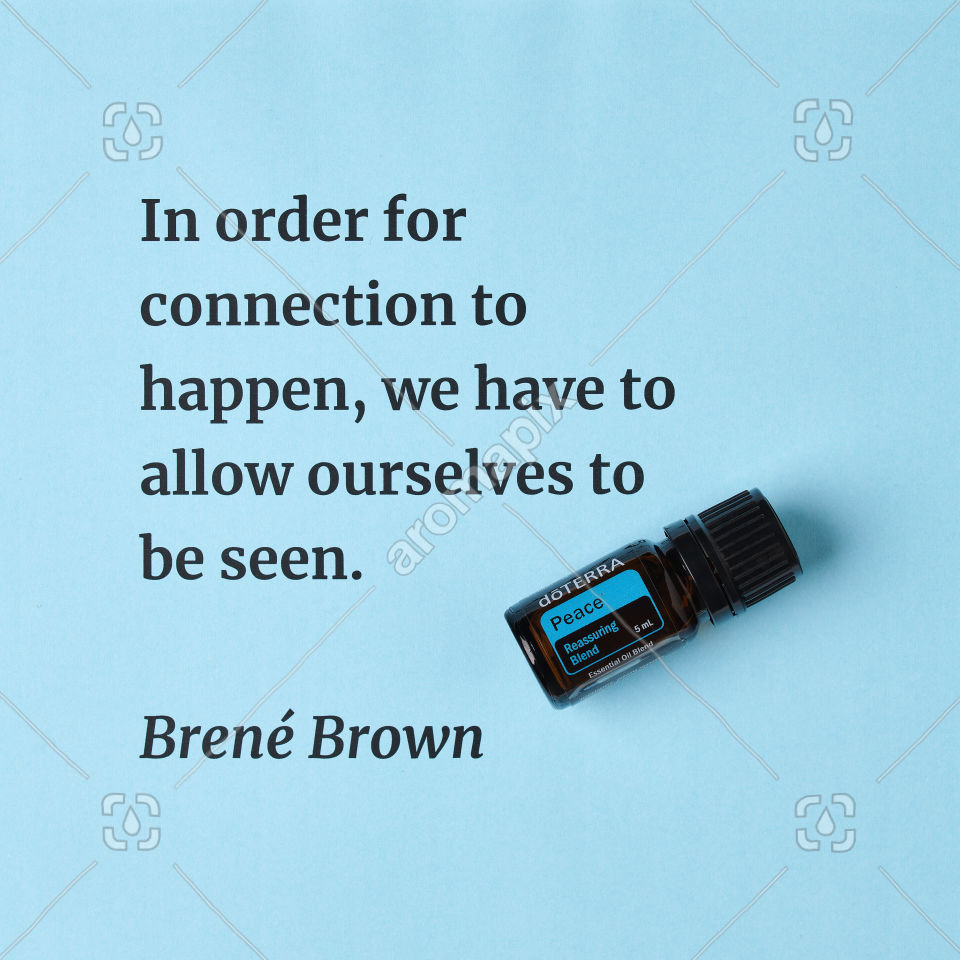 Creating connection quote featuring Peace
