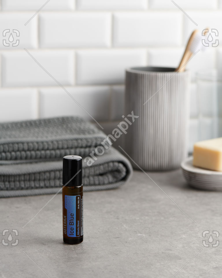 doTERRA Ice Blue Touch in the bathroom