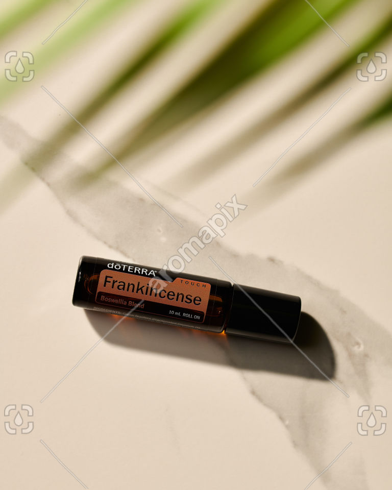 doTERRA Frankincense Touch in sunlight