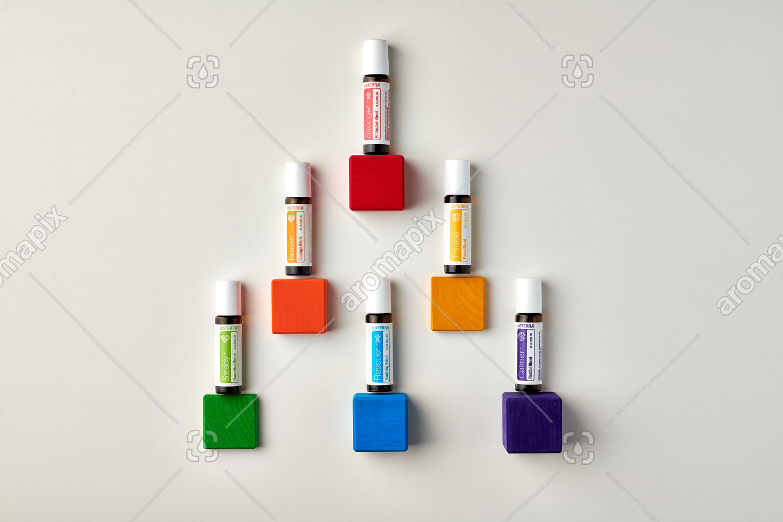 doTERRA Kids Oil Collection on wooden blocks