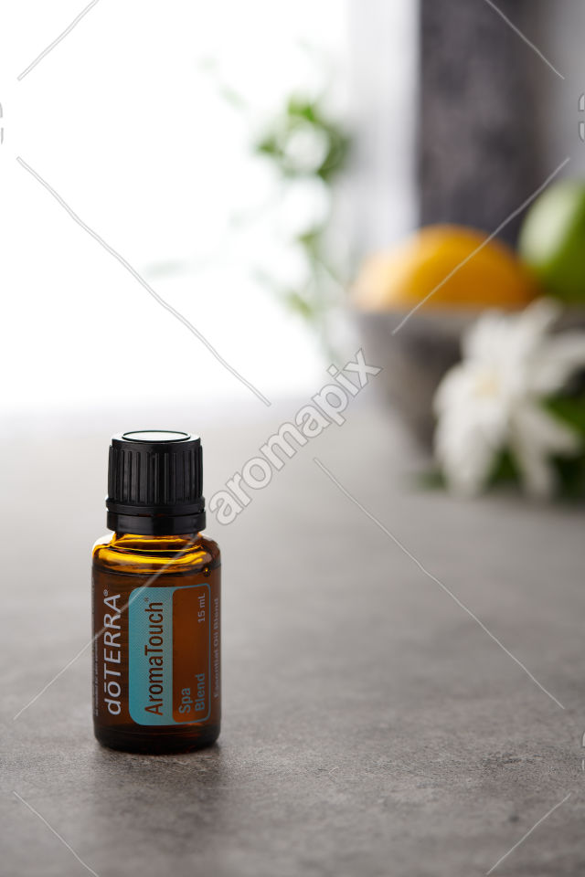 doTERRA AromaTouch on a bench