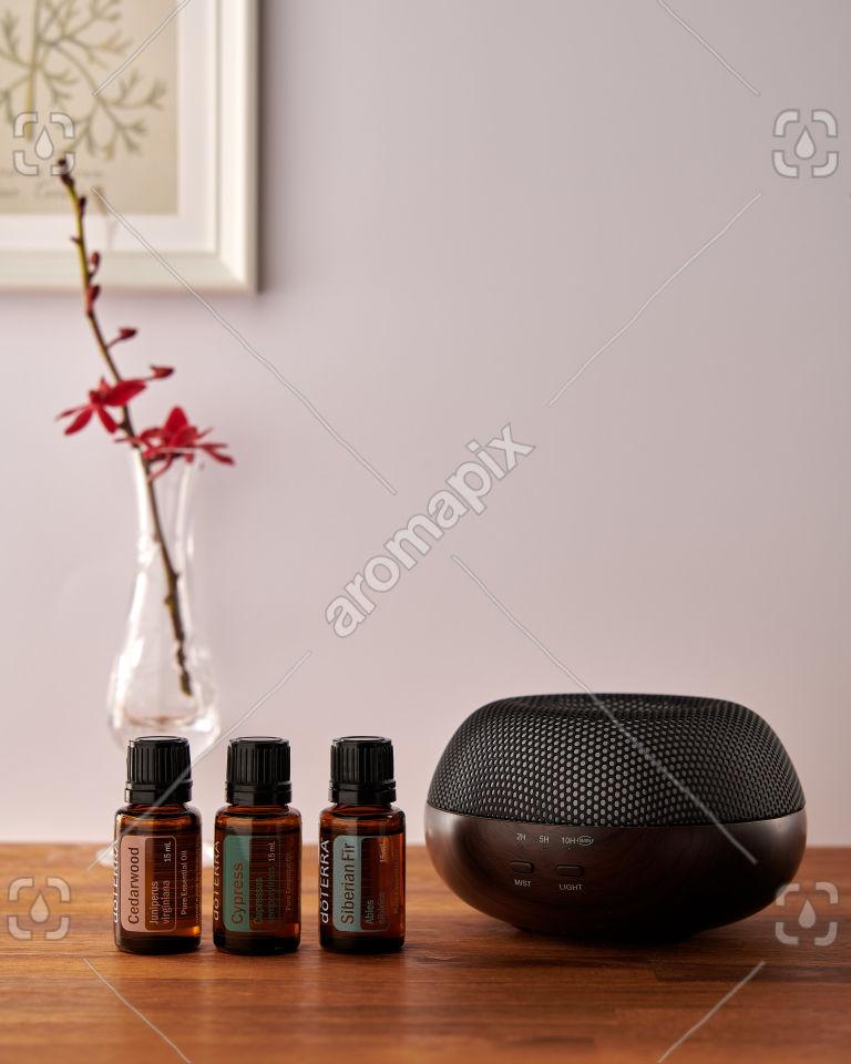 doTERRA Brevi Walnut diffuser with Cedarwood, Cypress and Siberian Fir