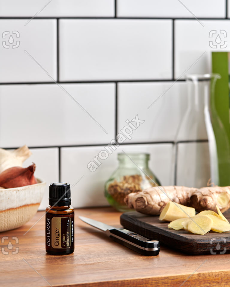 doTERRA Ginger on a kitchen bench