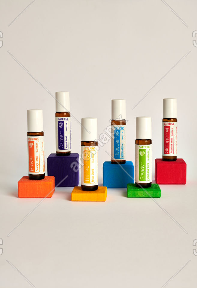 doTERRA Kids Oil Collection on wooden blocks
